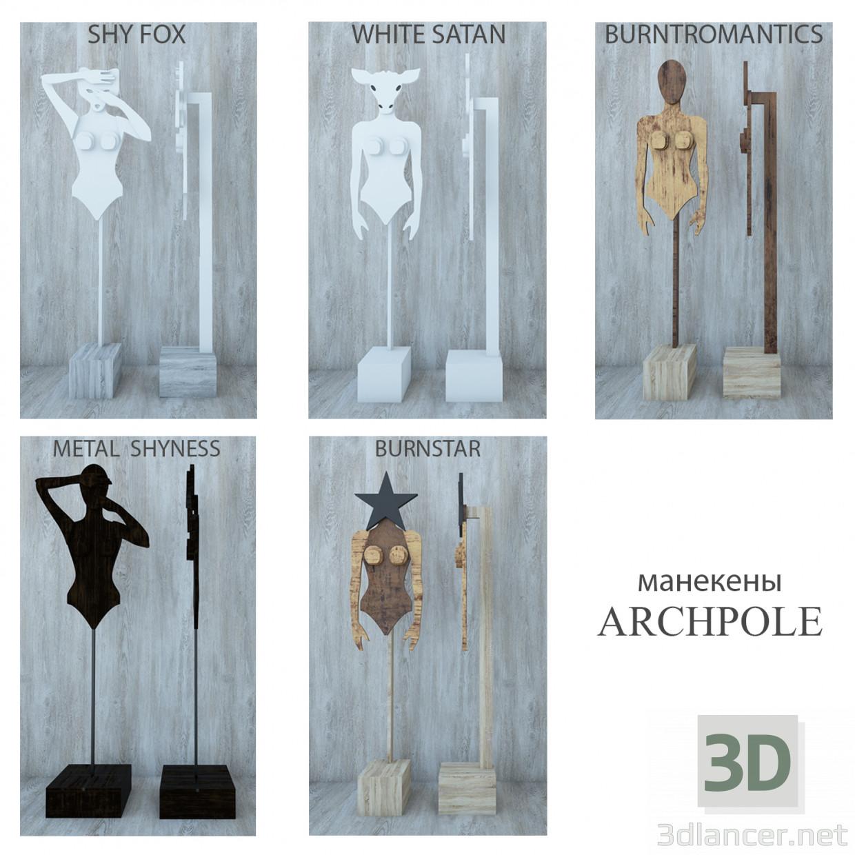 3 डी मॉडल Mannequins archpole - पूर्वावलोकन