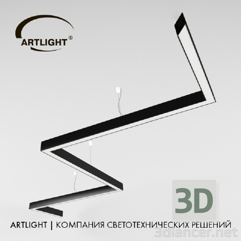 3d modeling Artlight_art-prof_led_corner model free download