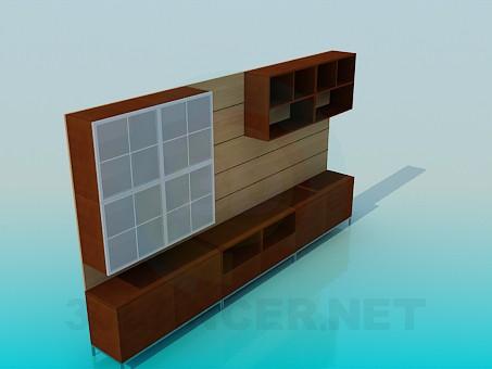 3d модель Шкаф в прихожую – превью