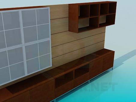modelo 3D Armario en el pasillo - escuchar
