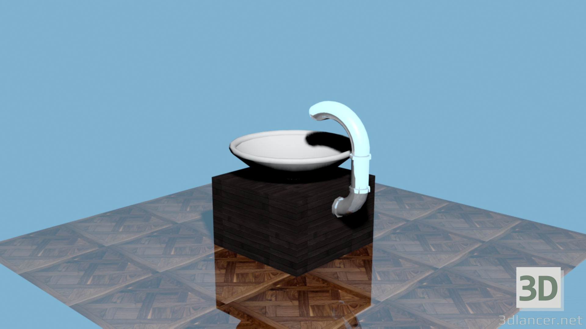 3d Modern sink model buy - render