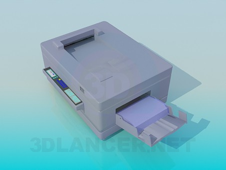 3d modeling Color printer model free download