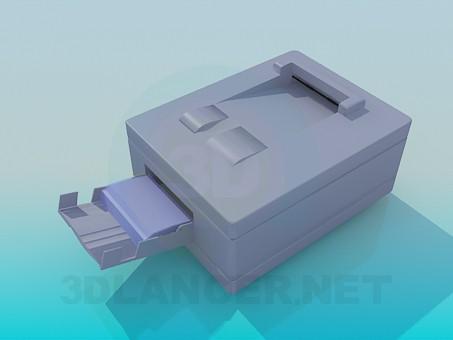 modelo 3D Impresora a color - escuchar