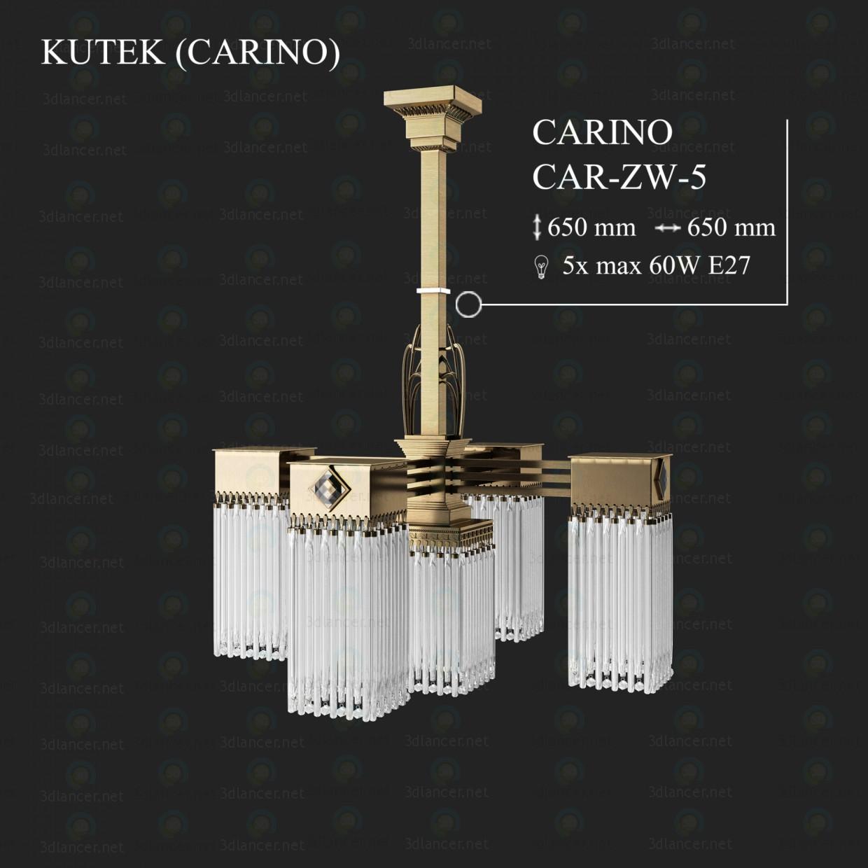 3d моделювання Люстра KUTEK CARINO CAR-ZW-5 модель завантажити безкоштовно