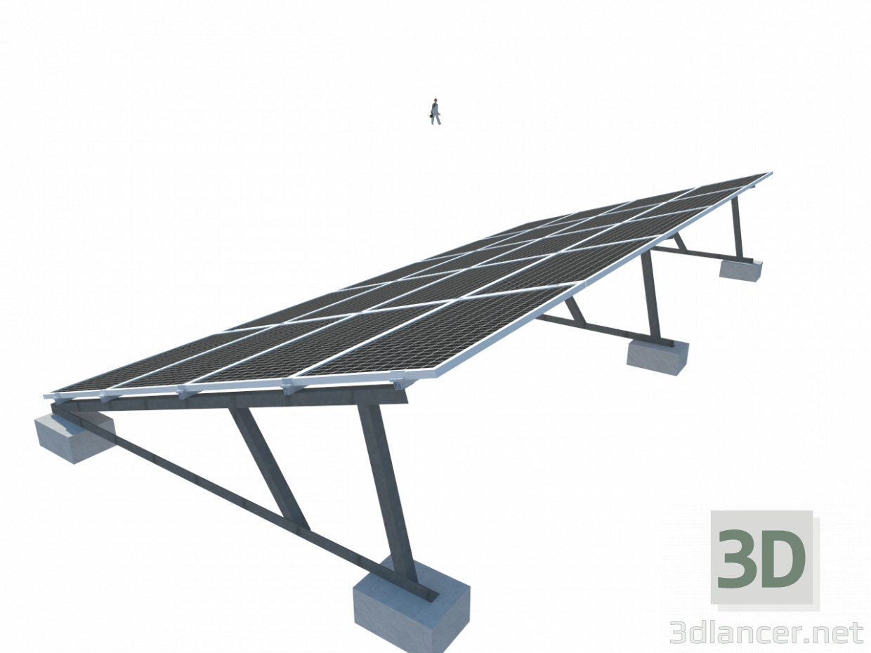 3d model Solar cell - preview