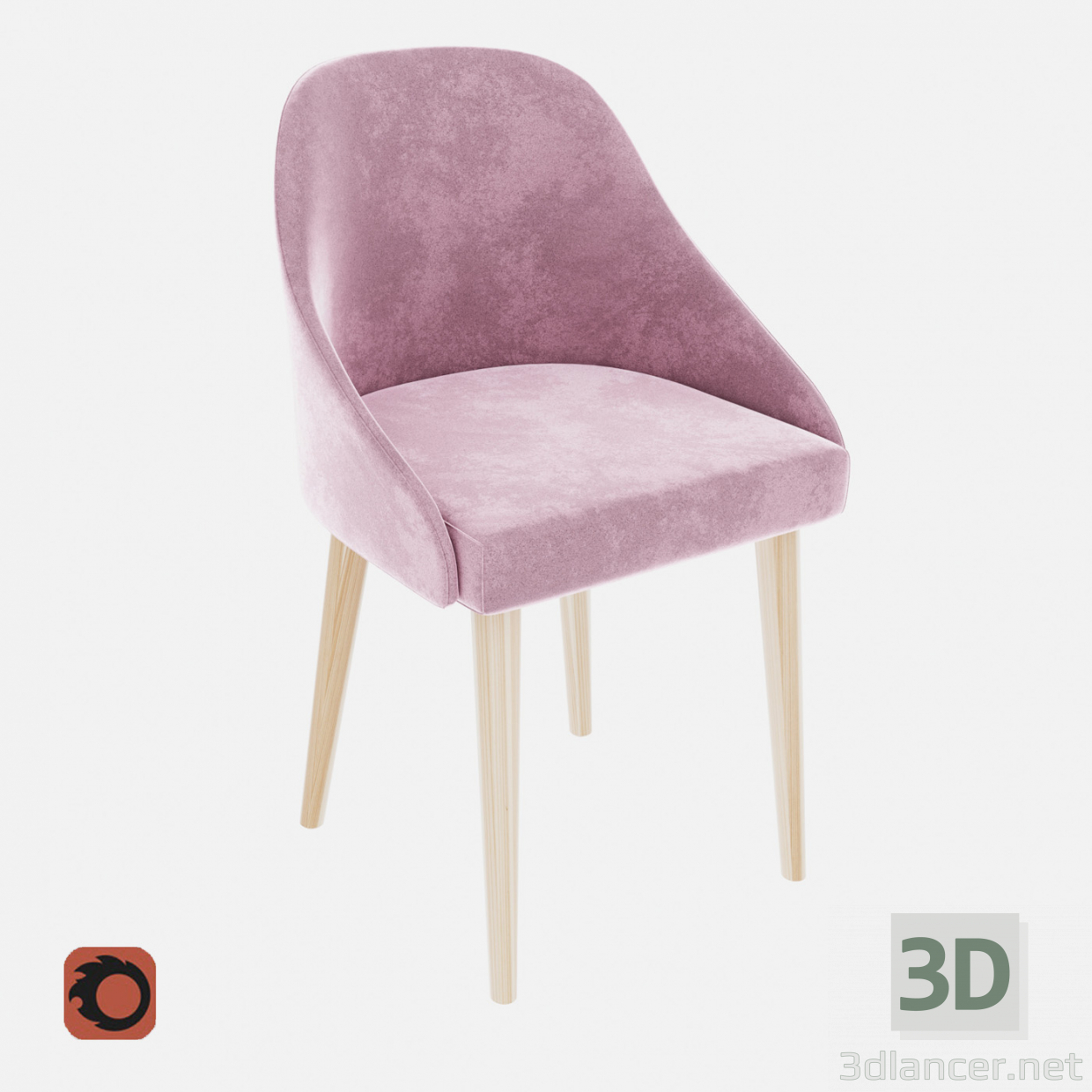3d model Pudra chair - preview