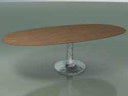 Oval dining table (137, Natural Lacquered)