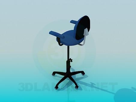 3d модель Стілець з регульованою висотою сидіння – превью