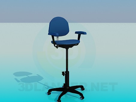 3d model Chair with adjustable height seating - preview