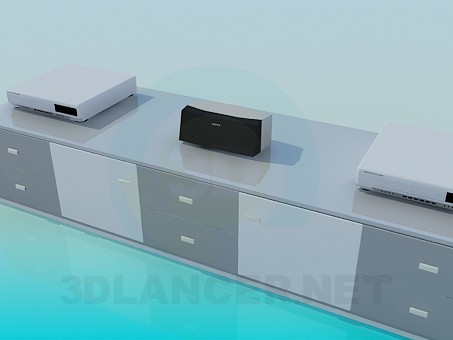 3d model Stand-stand for technology - preview