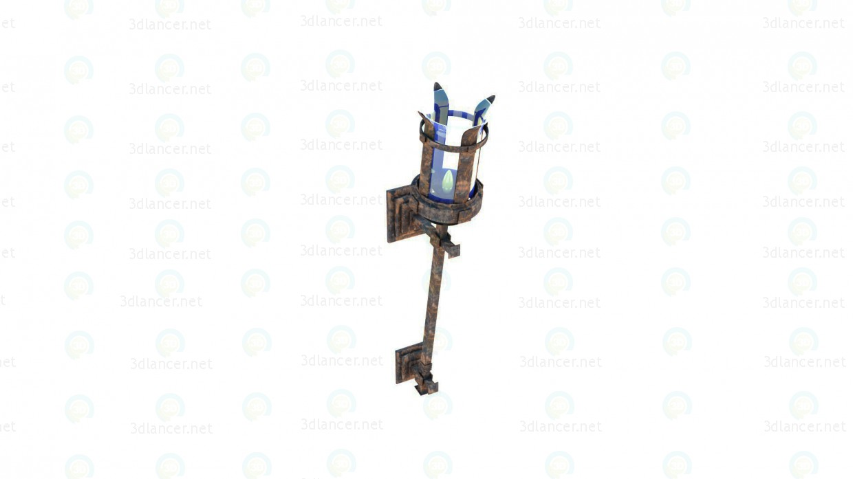3d Lamp Torch model buy - render