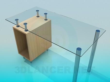 3d model Glass computer desk - preview