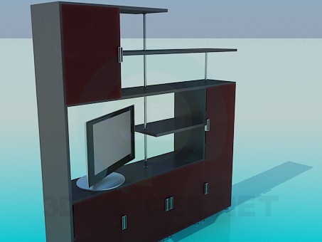 3d model Shelving in the living room - preview