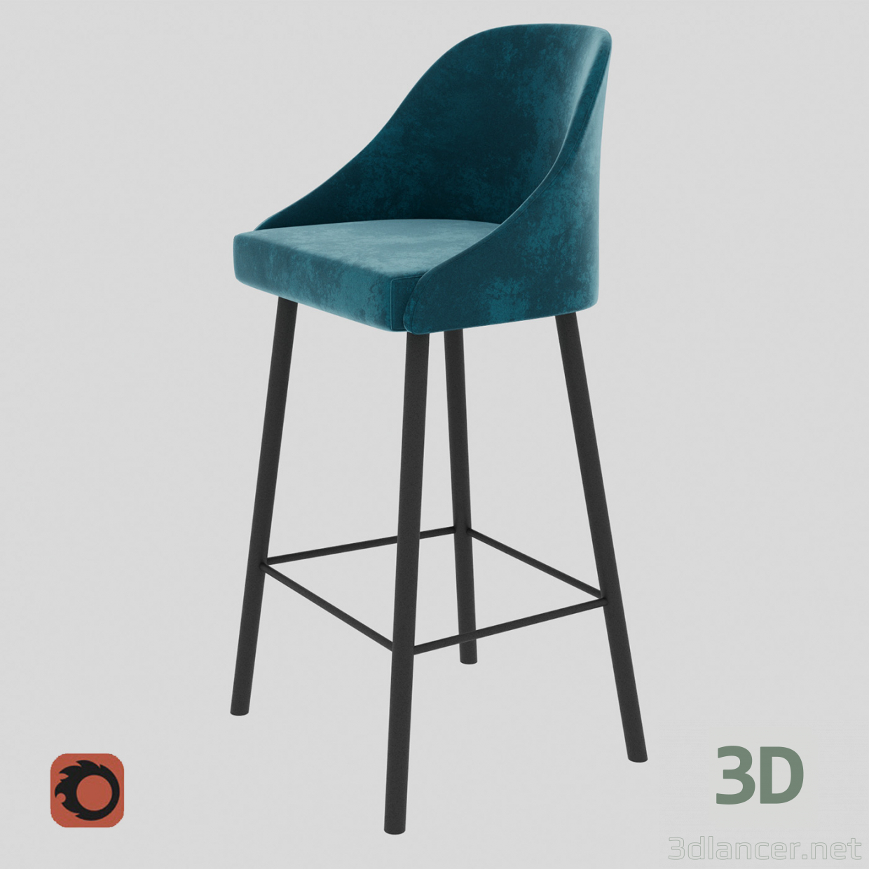 3d model Bar chair Pudra Bar,Компания 4Corners max(2014