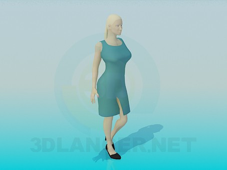3d modeling Woman model free download