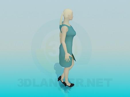 modelo 3D Mujer - escuchar