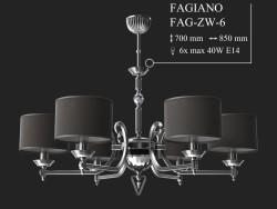 Kronleuchter KUTEK FAGIANO FAG-ZW-6