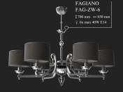 Chandelier KUTEK FAGIANO FAG-ZW-6