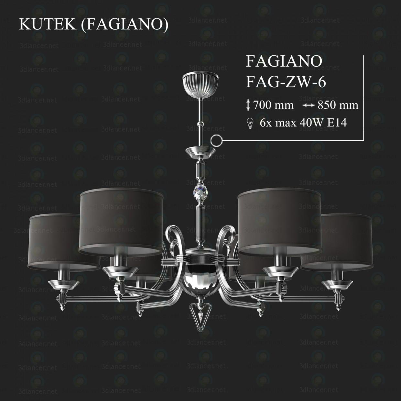 3d модель Люстра KUTEK FAGIANO FAG-ZW-6 – превью