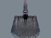Alman kazıcı kürek WW2 3d modeli