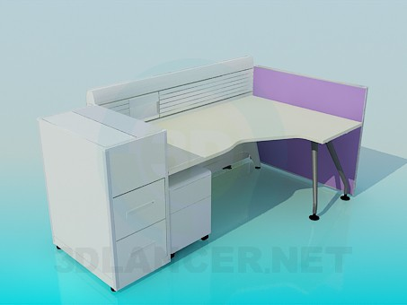 3d model Office area - preview