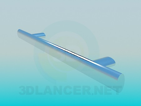 3d model Furniture handle chrome - preview