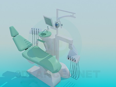3d model dentist chair - preview