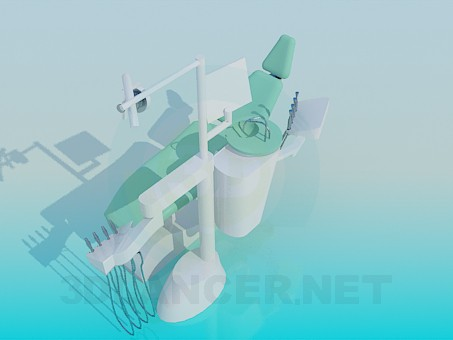 3d model dentist chair - preview