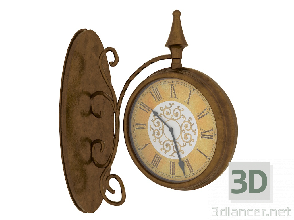 3d model Wall clock - preview