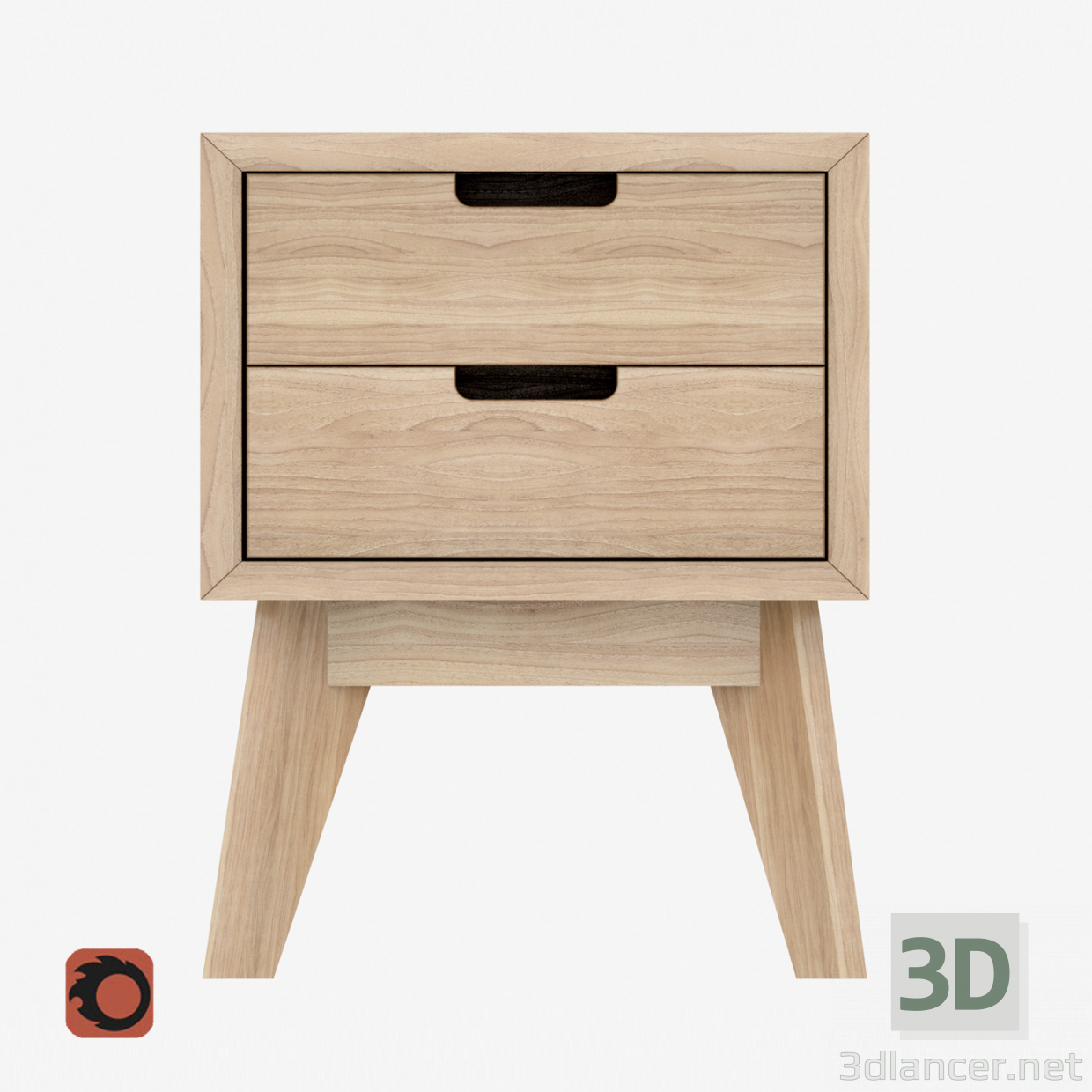 3d model Wooden cabinet Tiny Box - preview