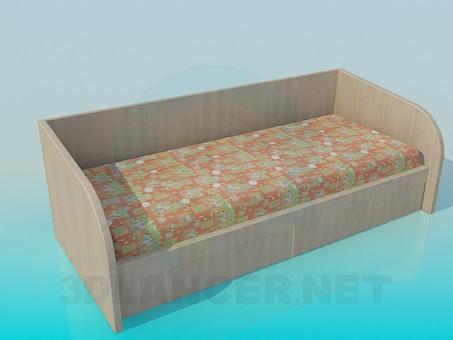 3d модель Детская кровать – превью