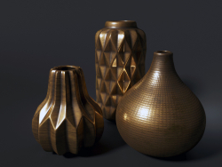 Golden ceramic vases DANTONE