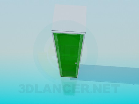 3d model Narrow cabinet with glass door - preview