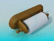 Туалетний папір з тримачем