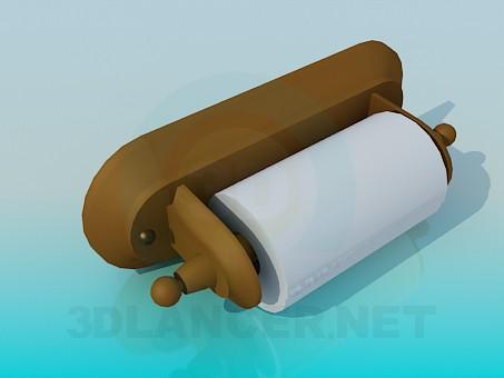 3d моделирование Туалетная бумага с держателем модель скачать бесплатно