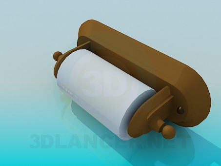 3d model Toilet paper holder - preview