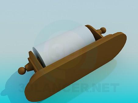 3d модель Туалетний папір з тримачем – превью