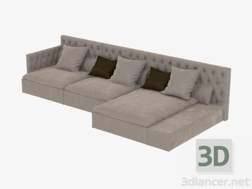 Modelo 3d sofás modulares Domonio del fabricante Frigerio ID 18948