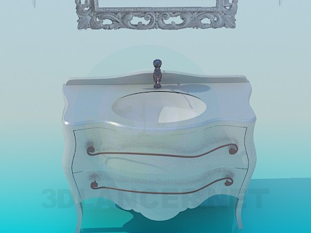3d model Сlassic washbasin - preview