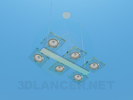 3d model Halogen lamp - preview