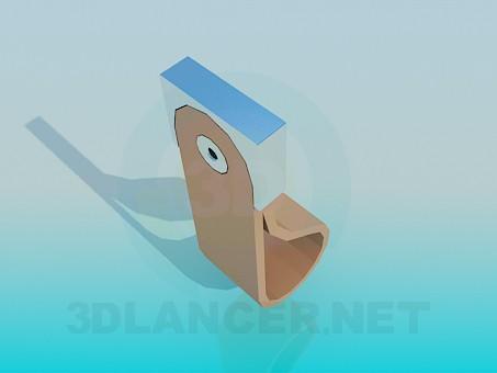 3d модель Ручка кожаная – превью