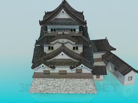 3d model Chinese House - preview