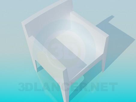 descarga gratuita de 3D modelado modelo Sillón