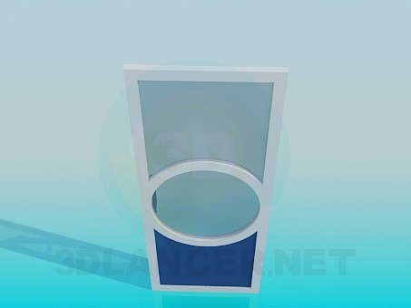 3d модель Стеклянная дверь – превью