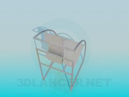3d model Futuristic chair - preview