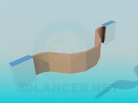 modelo 3D Manija de cuero - escuchar