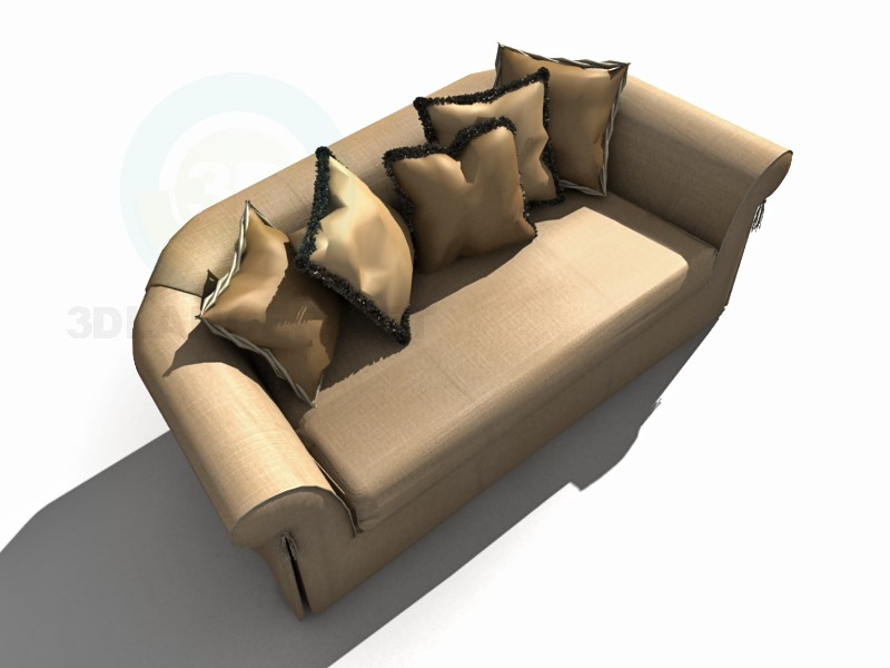3d modeling Sofa with cushions model free download