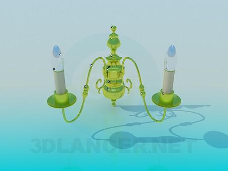 modelo 3D Lámpara de pared - escuchar
