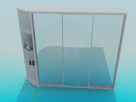 3d model Sliding wardrobe - preview
