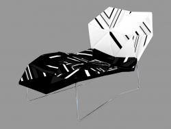 Chaise longue avec revêtement en tissu
